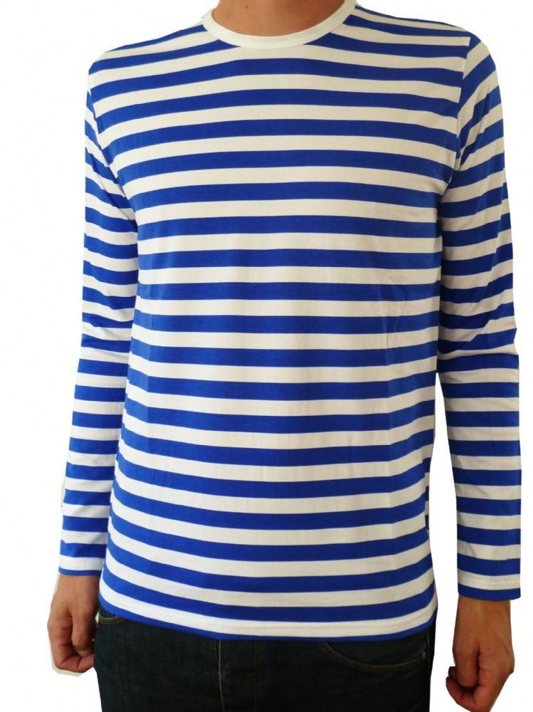 Mens Red And White Striped T Shirt